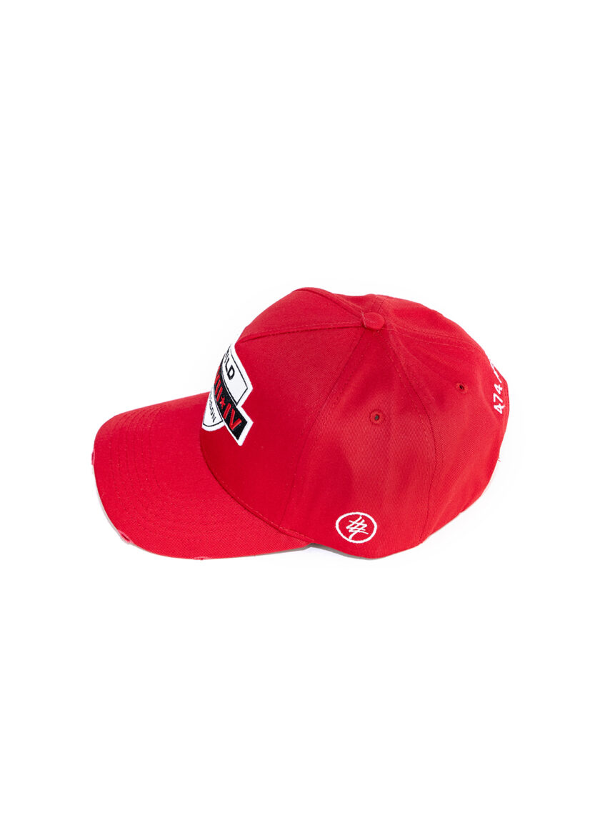 Red 474 Wild Season Baseball Cap side