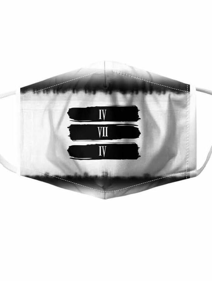 white 474 bar mask