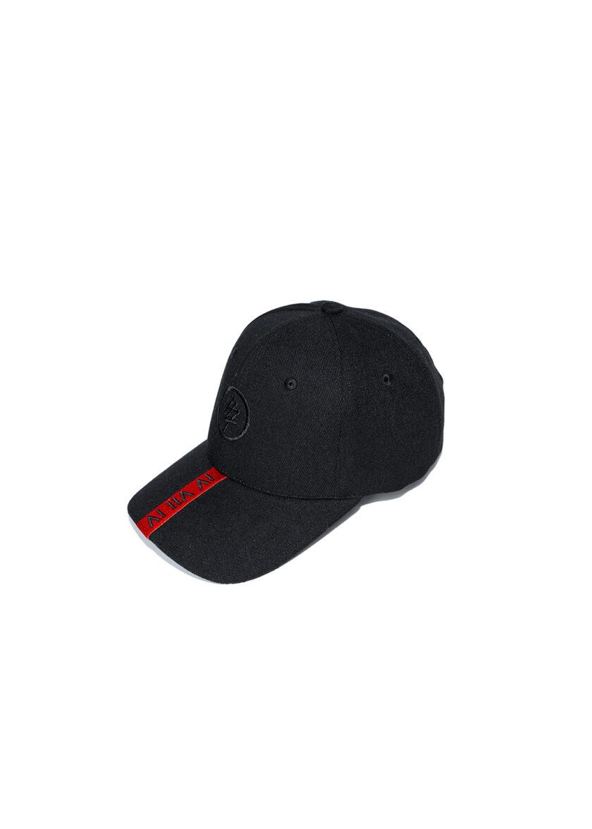 Red Strip 474 Baseball Cap front 2