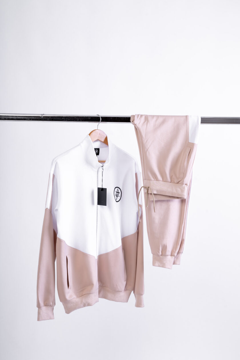 474 white and beige tracksuit top