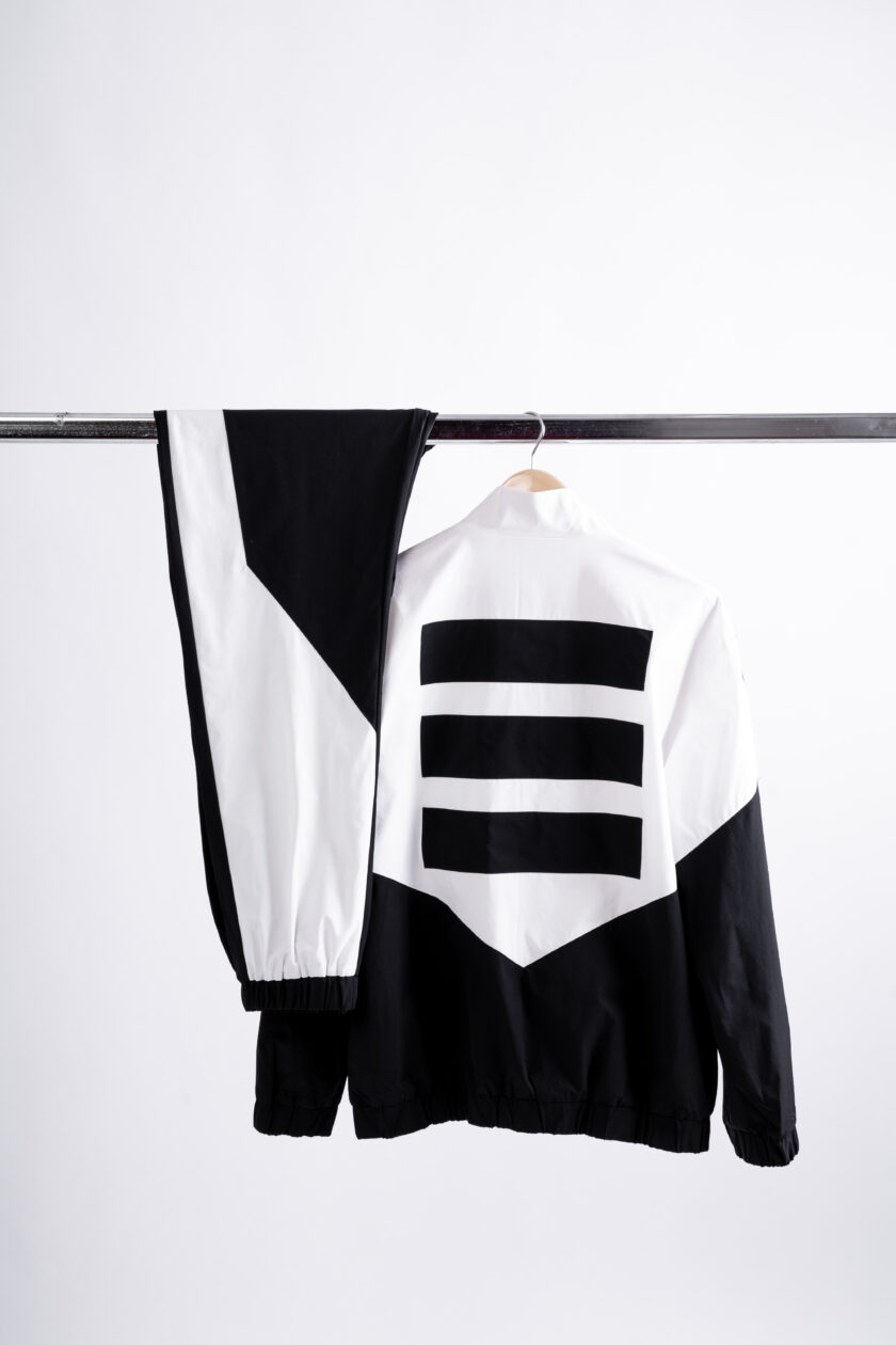 474 white and black tracksuit bottom - 474 Tracksuits