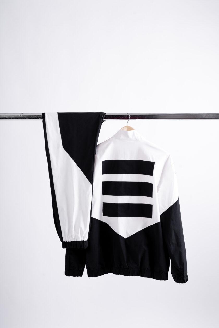 474 white and black tracksuit windbreaker